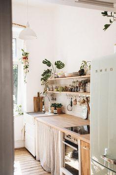 Küche Küchen Design, House Design, Interior Design, Design Ideas, Home Kitchens, Tiny Kitchens, Kitchen Dining, Cozy Kitchen, Summer Kitchen