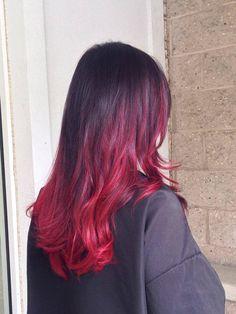 #Paragonhairsalon #color #ombre #northshore #redhair #highlights #longislandhair #hair
