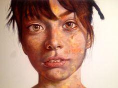 """Sophia"" Mixed Media on Canvas by Darian Rodriguez Mederos SOLD"