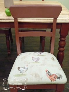 Farmhouse Dining Chair Primer Red Chalkpaint Creates A Country Look Paired With Anniesloanhome