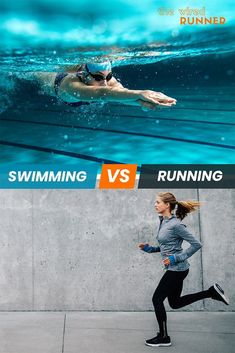 If you exercise regularly or are a beginner, you might be wondering which offers a better workout - swimming vs running? Interval Cardio, Cardio Routine, Workout Routines, Running Workouts, Running Tips, Fun Workouts, Health And Wellness Coach, Health And Fitness Tips, Training Plan