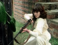 Sarah Jane Smith taking charge of the situation.