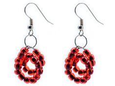 #DIY Earrings made of seed beads - instruções em checo