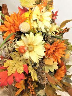 Pumpkin Cornucopia Mixed Floral 24