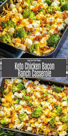 Low Carb Chicken And Broccoli, Broccoli Recipes, Chicken Broccoli Casserole Healthy, Chicken Bacon Ranch Casserole, Low Carb Chicken Casserole, Ranch Chicken Recipes, Chicken Ideas, Healthy Low Carb Recipes, Keto Recipes