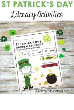 Saint Patrick's Day Literacy Sheets suitable for Students and perfect for literacy stations or homework. Both UK and US spelling variations are included in this pack. Bring some seasonal fun into your literacy centers! Literacy Stations, Literacy Activities, Literacy Centers, Teaching Resources, English Activities, Teaching Ideas, Upper And Lowercase Letters, Lower Case Letters, Primary School Curriculum