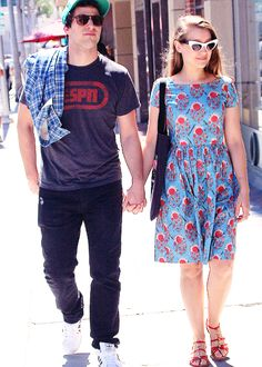 Andy Samberg and Joanna Newsom in Beverly Hills (28 August, 2014)