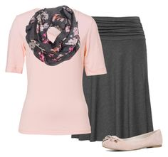 """""""Light pink and Grey. ~Grace"""" by isongirls ❤ liked on Polyvore featuring Basler, H&M and ALDO"""