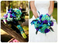 peacock bouquet by me....love love love!