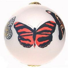 Hand Painted Glass Butterfly Ornament from Butterfly Buzz.