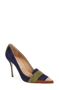 Manolo Blahnik 'Durut' Suede Pointy Toe Pump (Women) available at #Nordstrom