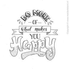 Dag 31 van de #dutchlettering challenge van oktober. En omdat het mij gelukkig maakt, ga ik in november lekker door! Fijne maandag! . . #letterart #lettering #handlettering #handdrawn #handwritten #handmadefont #sketch #doodle #draw #tekening #illustrator #typspire #dailytype #typedaily #modernlettering #moderncalligraphy #quote #illustration