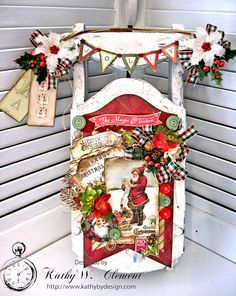 Dashing Through the Snow Altered Sled, by Kathy Clement for Petaloo Authentique Blog Hop Photo 1
