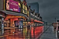 Photography by John Maslowski- looks like the Atlantic City Boardwalk before the storm