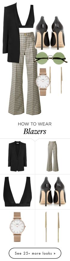 """""""Untitled #5153"""" by olivia-mr on Polyvore featuring Marc Jacobs, Zimmermann, Helmut Lang, Jimmy Choo, The Row and CLUSE"""