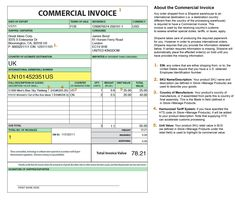 international shipping and the commercial invoice no commercial value invoice