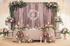 Свадьба Александра и Александры в итальянском стиле, стол молодожен
