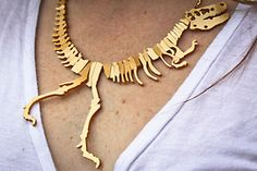 freaking awesome dinosaur necklace