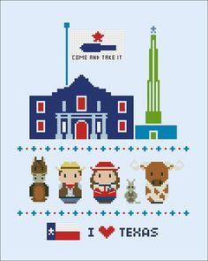 Texas icons Mini people around the world PDF von cloudsfactory