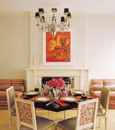 Traditional Dining Room by Philip Gorrivan in New York, New York
