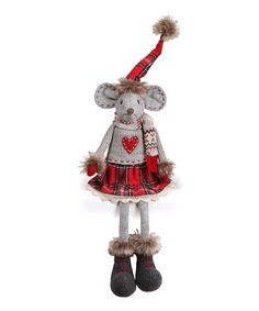 Another great find on #zulily! Heart Sweater Girl Mouse Shelf Sitter Figurine #zulilyfinds