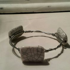 Handcrafted wire wrapped bracelet Wire wrapped handcrafted bracelet Jewelry Bracelets