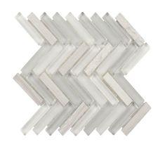 Herringbone Glass Stone Tile Haisa Light for kitchen backsplash