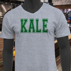 2x.     KALE VARSITY LETTER VEGAN VEGETARIAN HEALTH HUMOR Mens Gray V-Neck T-Shirt | Clothing, Shoes & Accessories, Men's Clothing, T-Shirts | eBay!