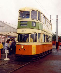 Tram at the Glasgow Garden Festival in the 80s. Now on display at Scotland's Museum of Transport in Glasgow. Well worth a visit.