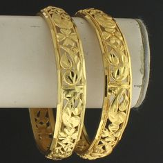 Gold Tone 1 pair Bangle @ Indiatrend For $14.99USD