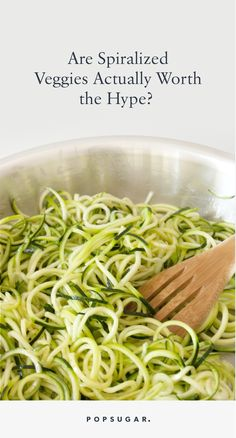 It's time to get on board with the increasingly popular spiralized-veggie trend!
