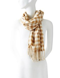 Lana-Check Scarf from THELIMITED.com Checked Scarf, Casual Wear, Fashion Forward, Holiday Gifts, Christmas Gifts, Xmas, Style Inspiration, My Style, How To Wear