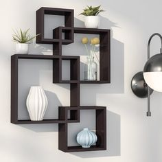 Intersecting Cubes Shelf