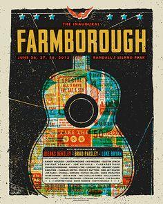 Farmborough Festival (Dierks Bentley / Brad Paisley / Luke Bryan / etc.). Poster design: Modern Giant Design (2015).