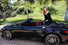 Another car: Khloe Kardashian was showing off a black Porsche 911 Targa over the weekend