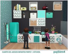 Cuarto de juegos para infantes. Parte 1 Kitchen. Sims 4 Custom Content. ~ pqSim4
