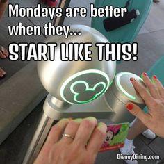 Mondays are better when .Walt Disney World or bust Disney Nerd, Disney Love, Disney Magic, Walt Disney World, Disney Pixar, Disney Stuff, Disney Facts, Disney Memes, Disney Quotes