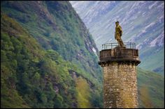 the Glenfinnan Monument at the head of Loch Shiel, Scotland, which was built to commemorate Bonnie Prince Charlie and the Jacobite Rebellion (1745-6) http://LDN.in/X8EzvJ
