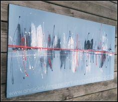 Peinture acrylique sur toile de lin  Abstrait  par DecArttoi, $90.00