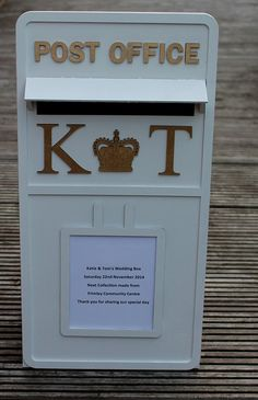 Wooden Wedding Post Box Personalised With Your Own By Scratchycat