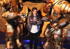Matt Smith casts his hand prints in cement as he makes his first visit to The Doctor Who Experience in Cardiff Bay to unveil a new exhibit o...