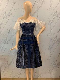 Model Dress Batik, Batik Dress, Lace Dress, Elegant Dresses, Beautiful Dresses, Casual Dresses, Mode Batik, Kebaya Modern Dress, Traditional Dresses Designs