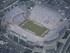 Penn State: Aerial View of Beaver Stadium Picture at Penn State Nittany Lion Photos State College, College Fun, College Football, Pitt Football, Football 2013, Nebraska Football, Football Stuff, Football Fans, Penn State White Out