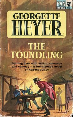 The Foundling by Georgette Heyer. Pan 1966. Cover artist J. Oval by pulpcrush, via Flickr