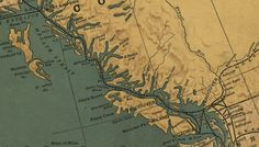 Historical Map of Vancouver Island BC Historical Maps, Vancouver Island, British Columbia, Google Images, Places Ive Been, Vintage World Maps, Nostalgia, Spaces, House