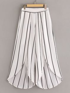 To find out about the Surplice Neck Stripe Top & Split Wide Leg Pants Set at SHEIN, part of our latest Two-piece Outfits ready to shop online today!Plus Surplice Front Knot Hem Top With Asymmetrical Hem Pants Teen Fashion Outfits, Fashion Pants, Fashion Dresses, Salwar Designs, Salwar Pattern, Plazzo Pants Pattern, Tulip Pants, Salwar Pants, Jugend Mode Outfits