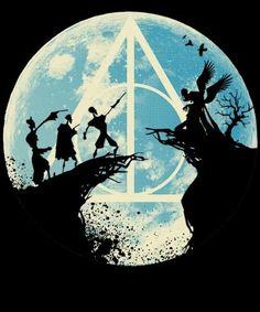 Harry Potter Tumblr, Poster Harry Potter, Harry Potter Animé, Images Harry Potter, Harry Potter Painting, Harry Potter Artwork, Harry Potter Deathly Hallows, Harry Potter Drawings, Harry Potter Tattoos
