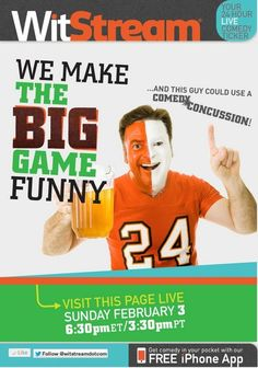 The 49ers and Ravens both want to win the game, Beyonce's definitely going to win at life, and if you're smart you'll win by following along with all of Super Bowl Sunday's funniest Tweetsat WitStream.com!