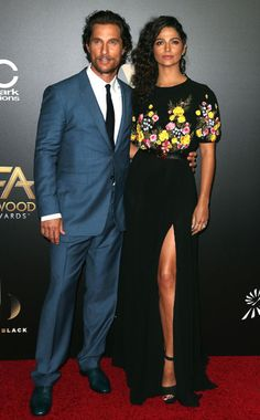 Luxe Red Carpet | Hollywood Film Awards | Matthew McConaughey and Camilla Alves | The Luxe Lookbook