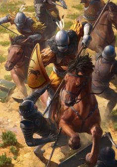 Kaedweni cavalry gwent card art.jpg